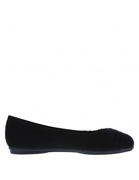 Zapatos planos con plisado Bree para mujer - Negro