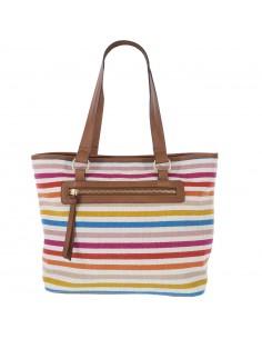 Women's Multi tia stripes handbag from payless