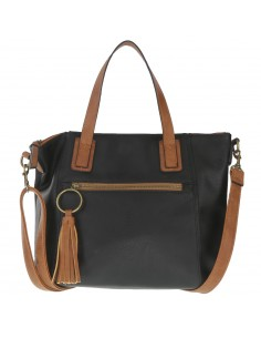 Women's Mustard Lizzie black handbag from Payless