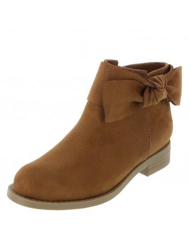 Girl's Harmony Bow Boot - Cognac