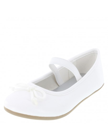 Zapatos planos Fae para niña pequeña - Blanco