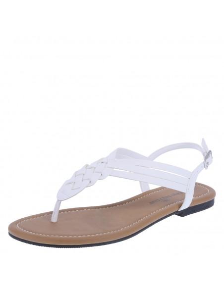 Zapatos planos de tiras trenzados Paprika para mujer - Blanco