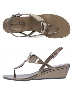 Women's Mork Mirrored Wedge Sandal - Bronze