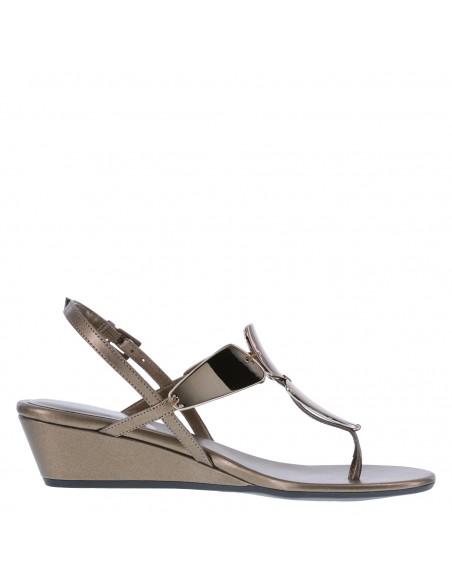 Women's Mork Mirrored Wedge Sandal - Bronze