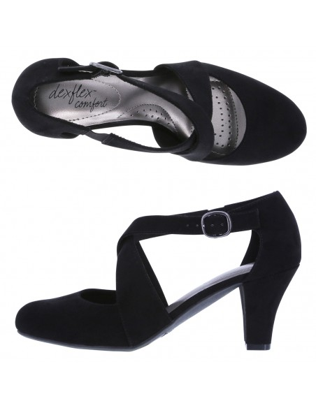Women's Macie Cross Strap - Black