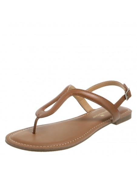 Sandalias Wishbone Flat para mujer - Cognac