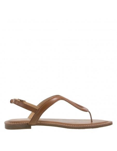 Women's Wishbone Flat sandals - Cognac