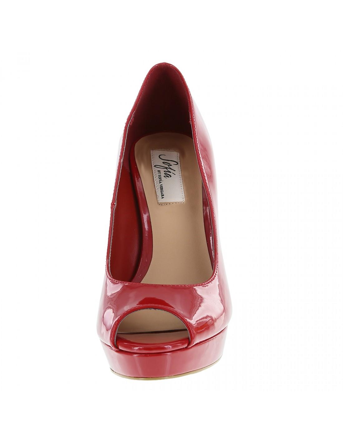 ab75845a810 Zapatos Sofía Vergara Peep Toe Plataforma - Rojo. ¡En oferta!