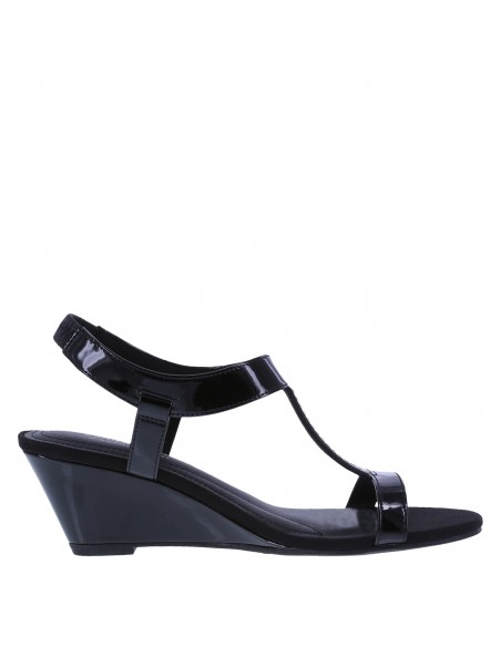 Women's Swaggy Wedge Sandals - Black