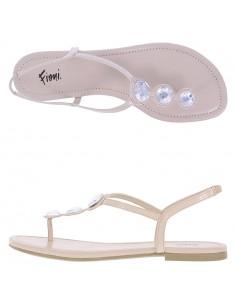 Sandalias planas de tiras Present de Fioni para mujer
