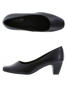 Women's Janis Low Heel Pump shoes - Black