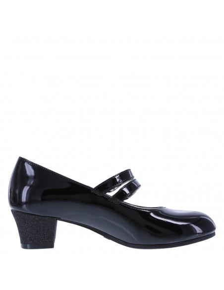 Zapatos Ari II para niña - Negro