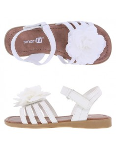 Girls' Toddler Melanie Flower Sandals - White